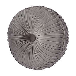 J. Queen New York™ Belvedere Tufted Round Throw Pillow in Silver