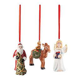 Villeroy & Boch 3-Piece Nostalgic Christmas Ornaments Set