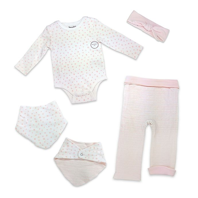 Alternate image 1 for Harry & Violet Size 6-9M 4-Piece Take Me Home Set in Pink