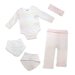 Harry & Violet Size 6-9M 4-Piece Take Me Home Set in Pink