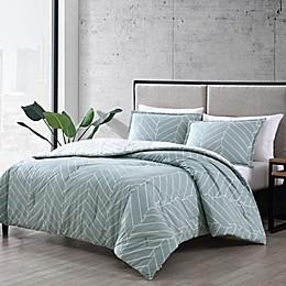 City Scene® Ceres 3-Piece Reversible Comforter Set in Green