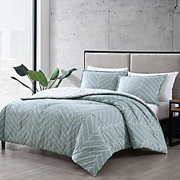 City Scene® Ceres 3-Piece Reversible Comforter Set in Green