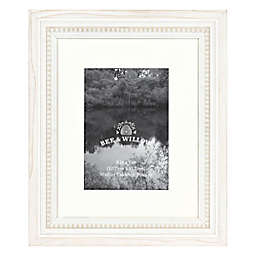 Bee & Willow™ 5-Inch x 7-Inch Beaded Wood Matted Picture Frame in White