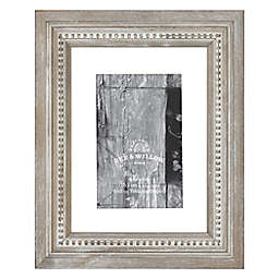 Bee & Willow™ 4-Inch x 6-Inch Beaded Wood Matted Picture Frame in Grey
