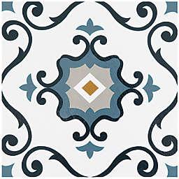 Achim Retro 12-Inch Square Peel & Stick Vinyl Floor Tiles in Slate (Set of 20)