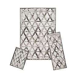 Achim Capri Rizzy 3-Piece Rug Set in Grey