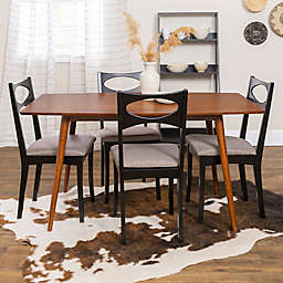 Forest Gate™ 5-Piece Mid-Century Dining Set in Black