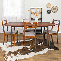 Forest Gate™ 5-Piece Mid-Century Dining Set in Acorn