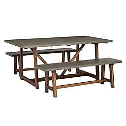 Forest Gate™ 3-Piece Farmhouse Dining Set