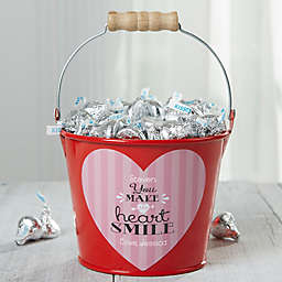 """You Make My Heart Smile"" Personalized Treat Bucket"