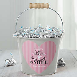 """""""You Make My Heart Smile"""" Personalized Small Treat Bucket"""