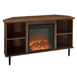 Forest Gate™ Corner Fireplace TV Stand in Dark Walnut