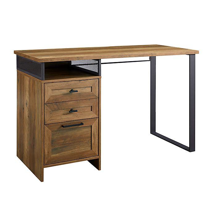 Alternate image 1 for Forest Gate 47.5-Inch 3-Drawer Computer Desk in Barnwood