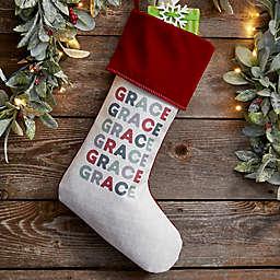 Vibrant Name Personalized Christmas Stocking