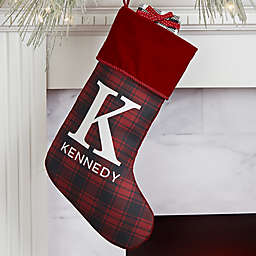 Christmas Plaid Personalized Christmas Stocking