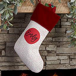Modern Polka Dot Personalized Christmas Stocking