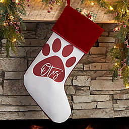 Pet Paw Personalized Christmas Stocking