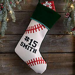 Baseball Personalized Christmas Stocking
