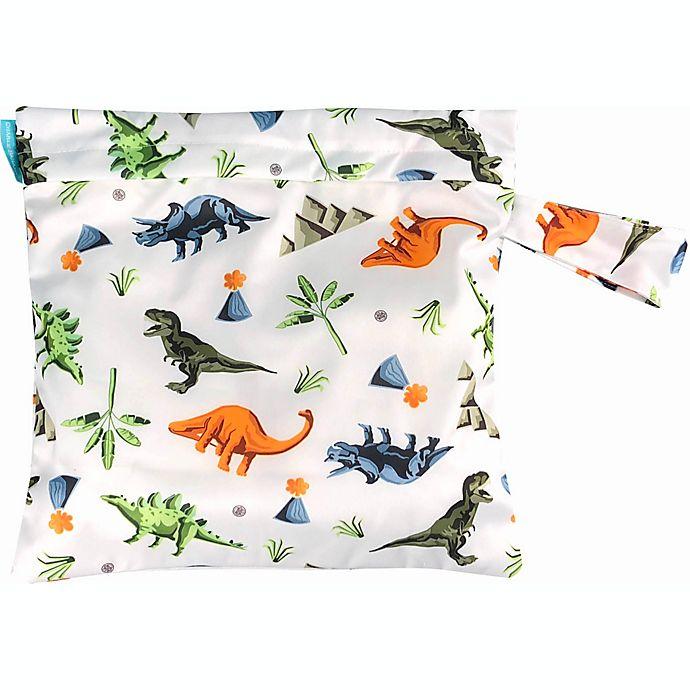 Alternate image 1 for Charlie Banana® Dinosaur Waterproof Diaper Tote Bag