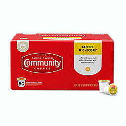 Community Coffee® & Chicory Coffee Pods for Single Serve Coffee Makers 80-Count
