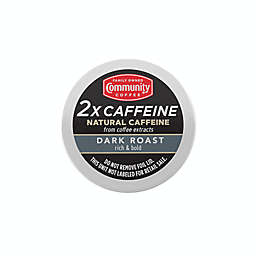 Community Coffee® 2X Caffeine Dark Roast Coffee Pods for Singe Serve Coffee Makers 24-Count