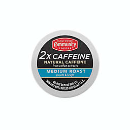 Community Coffee® 2X Caffeine Medium Roast Coffee Pods for Singe Serve Coffee Makers 24-Count
