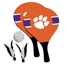 Clemson University Tigers 2-in-1 Birdie Pickleball Paddle Game Set