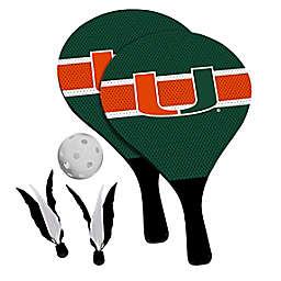 University of Miami Hurricanes 2-in-1 Birdie Pickleball Paddle Game Set