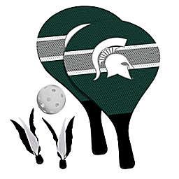 Michigan State University Spartans 2-in-1 Birdie Pickleball Paddle Game Set