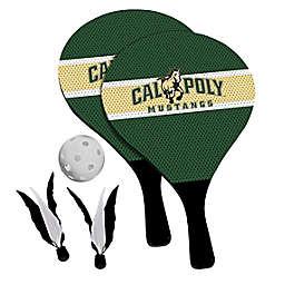 California Polytechnic State University Mustangs 2-in-1 Birdie Pickleball Paddle Game Set