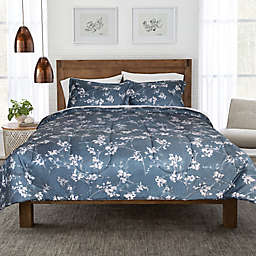 Springs Home™ Dark Floral 3-Piece Full/Queen Comforter Set in Navy