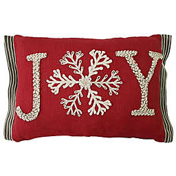 Joy Oblong Throw Pillow in Red