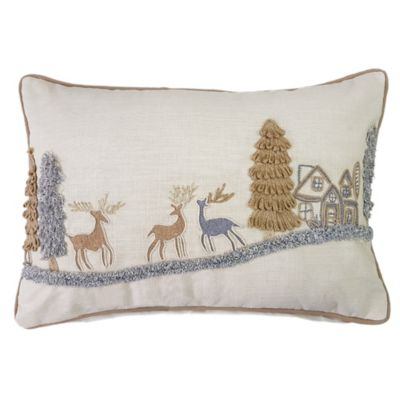 CanadaScenery Oblong Throw Pillow