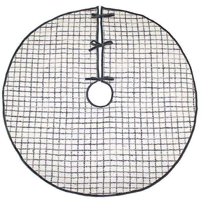 Alternate image 1 for Windowpane Acrylic Tree Skirt in Silver