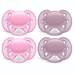 Philips Avent 6-18M Ultra Soft Pacifiers White/Pink (4-Pack)