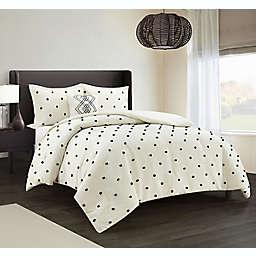 Nanshing Dori 4-Piece Comforter Set in Ivory