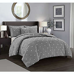 Nanshing Dori 4-Piece Full/Queen Comforter Set in Grey