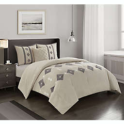 Nanshing Terry 4-Piece King Comforter Set in Ivory