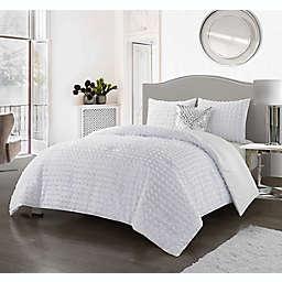 Nanshing Tory 4-Piece Comforter Set in White