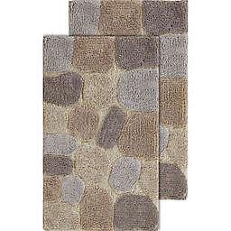 Chesapeake Pebbles 2-Piece 20-Inch x 32-Inch Bath Rug Set in Amethyst