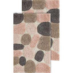 Chesapeake Pebbles 2-Piece 20-Inch x 32-Inch Bath Rug Set in Rose Cloud