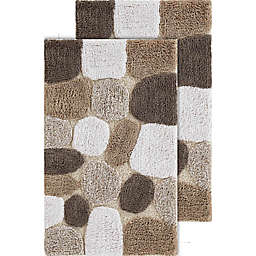 Chesapeake Pebbles 2-Piece 20-Inch x 32-Inch Bath Rug Set in Safari