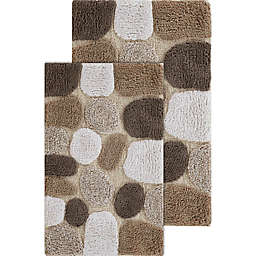 Chesapeake Pebbles 2-Piece Bath Rug Set in Safari