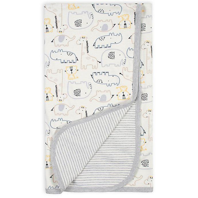 Alternate image 1 for Gerber® Organic Cotton Jungle Reversible Baby Blanket