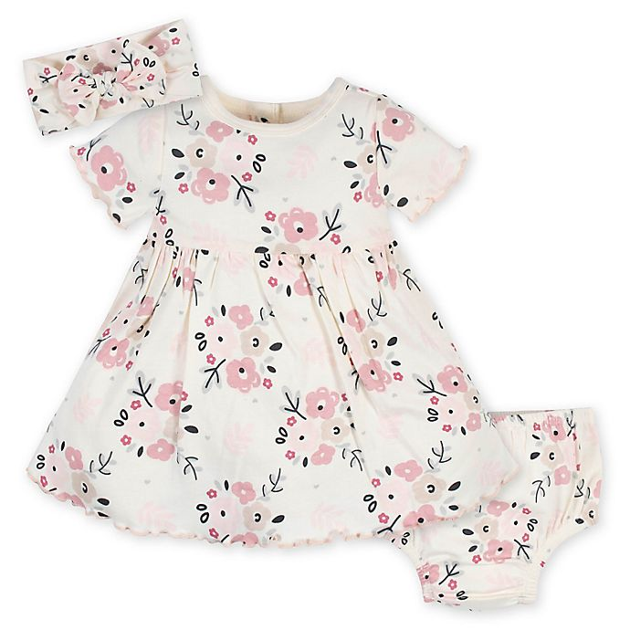 Alternate image 1 for Gerber® 3-Piece Wild Flower Dress Set in Ivory