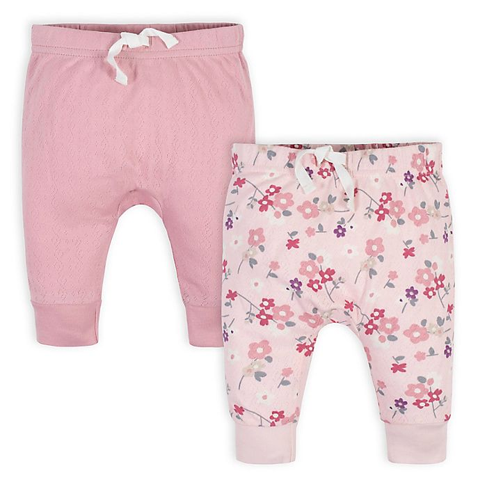 Alternate image 1 for Gerber® 2-Pack Organic Wild Flower Pants
