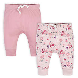 Gerber® 2-Pack Wild Flower Pants in Pink