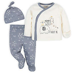 Gerber® Size 3-6M 3-Piece Jungle Take-Me-Home Set in Grey