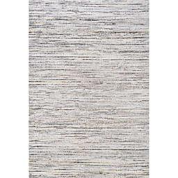 JONATHAN Y Loom Modern Strie' Area Rug in Grey/Black