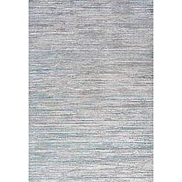 JONATHAN Y Loom Modern Strie' Area Rug in Grey/Turquoise